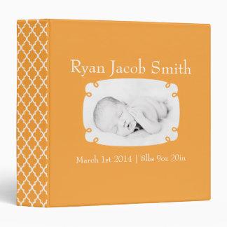 Libro listo del bebé de la foto anaranjada de Quat