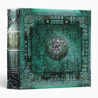 """Libro mágico medieval del tomo antiguo bonito de carpeta 1 1/2"""""""