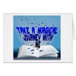 Libro mágico tarjeta