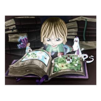 Libro mágico postal