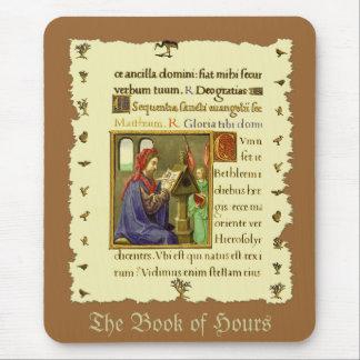 Libro medieval de horas tapetes de raton