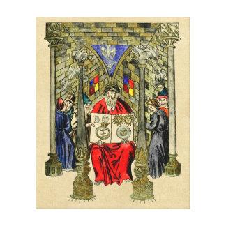 Libro medieval de la alquimia lona estirada galerias
