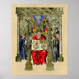 Libro medieval de la alquimia posters