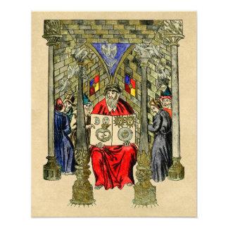 Libro medieval de la alquimia impresiones fotográficas