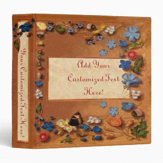 Libro medieval del vintage de horas carpeta de 1,5