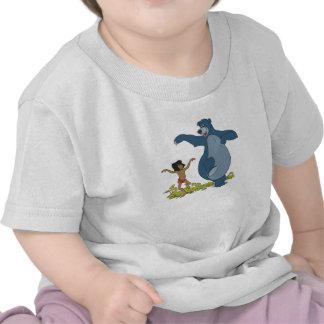 Libro Mowgli y Baloo de la selva que bailan Disney Camiseta
