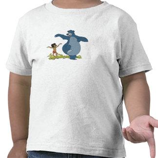 Libro Mowgli y Baloo de la selva que bailan Disney Camisetas