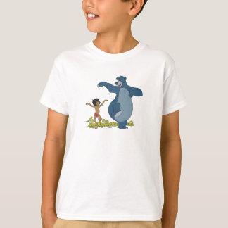 Libro Mowgli y Baloo de la selva que bailan Disney Playera