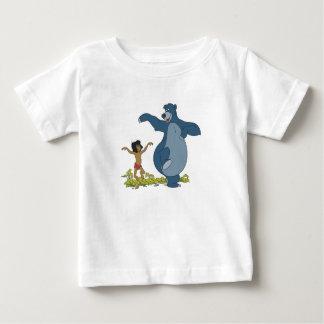 Libro Mowgli y Baloo de la selva que bailan Disney Playera De Bebé