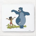Libro Mowgli y Baloo de la selva que bailan Disney Alfombrillas De Ratones