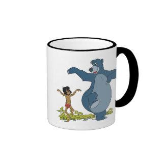 Libro Mowgli y Baloo de la selva que bailan Disney Taza De Dos Colores
