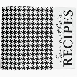 Libro negro de la carpeta de la receta del modelo