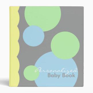 """Libro pálido del bebé en gris carpeta 1"""""""