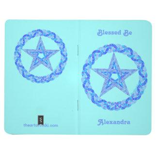 Libro personalizado arte azul de la edad del cuaderno
