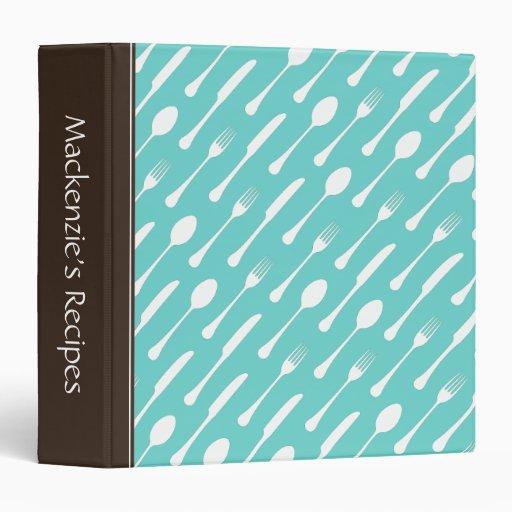 """Libro personalizado cubiertos de la receta de la a carpeta 1 1/2"""""""