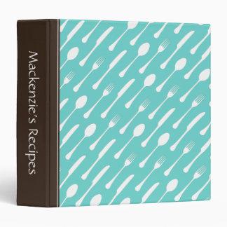 """Libro personalizado cubiertos de la receta de la carpeta 1 1/2"""""""