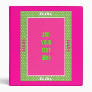 Libro personalizado de la memoria del BEBÉ de la c