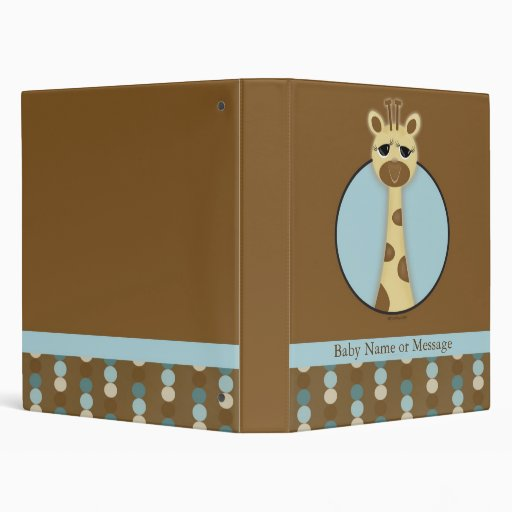 Libro personalizado jirafa del bebé del safari
