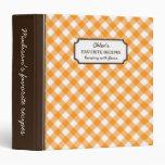 Libro personalizado modelo anaranjado de la receta