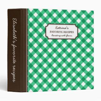 """Libro personalizado modelo verde de la receta de carpeta 1 1/2"""""""