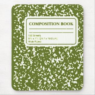 Libro/profesor estudiante de la composición alfombrilla de ratón