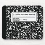 Libro/profesor estudiante de la composición tapetes de ratón
