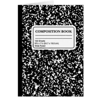 Libro/profesor estudiante de la composición tarjeta de felicitación
