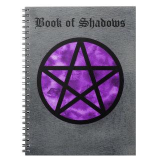 Libro púrpura del pentáculo del cuaderno 2 de las