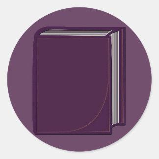 Libro púrpura - PurpleBkg Pegatina Redonda