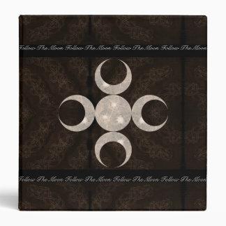 """Libro remilgado del diseño de la luna del MED de l Carpeta 1 1/2"""""""