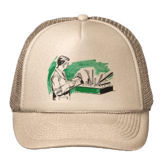Libro retro de la ciencia del niño del científico  gorras de camionero