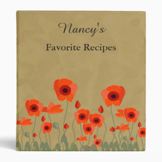 """Libro rojo brillante personalizado de la receta de carpeta 1"""""""