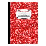 libro rojo de la composición tarjetas de visita
