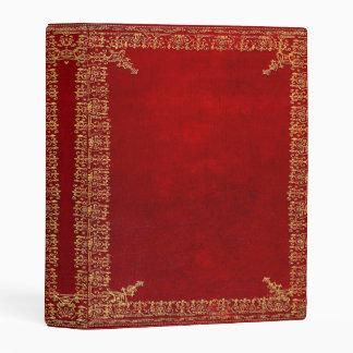 Libro rojo y dorado de Falln del oro Mini Carpeta