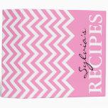 Libro rosado de la carpeta de la receta del modelo