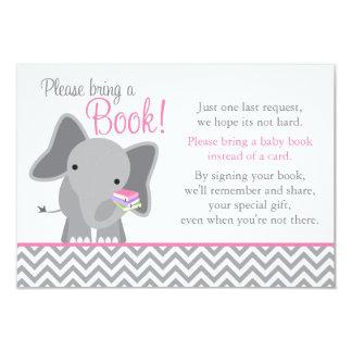 """Libro rosado de la fiesta de bienvenida al bebé invitación 3.5"""" x 5"""""""