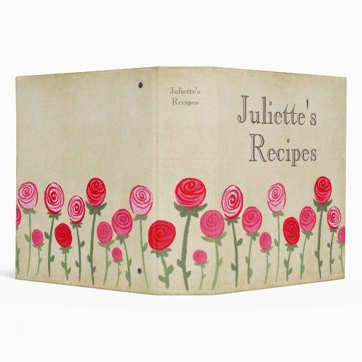 Libro rosado de la receta de los rosas que cocina