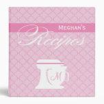 Libro rosado de la receta del monograma