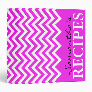 Libro rosado de neón de la carpeta de la receta de