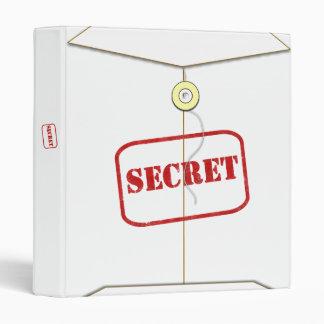 Libro secreto blanco de la carpeta de la carpeta