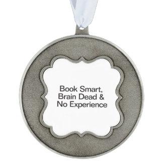 Libro Smart, clínicamente muerto y ningún Adorno De Navidad Festoneado De Peltre