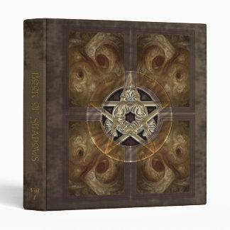 Libro tejado del pentáculo del fractal de sombras