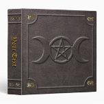 Libro triple de encargo del pentáculo de la luna d