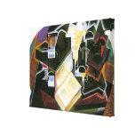 Libro, tubo y vidrios, Juan Gris, cubismo del Impresión En Lienzo Estirada