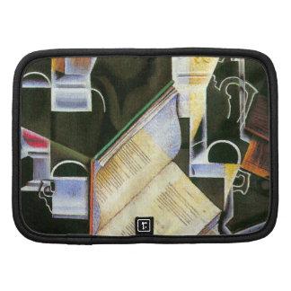 Libro, tubo y vidrios, Juan Gris, cubismo del Organizador