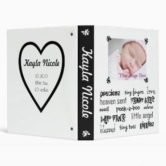 """Libro unisex negro y blanco del bebé carpeta 1"""""""