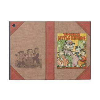Libro viejo Cover Style de los pequeños gatitos de iPad Mini Protector