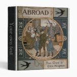 """Libro viejo de 1884 viajes del facsímil carpeta 1"""""""