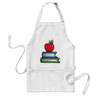 Libro y manzana delantales