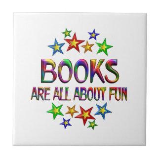Libros acerca de la diversión azulejo cuadrado pequeño